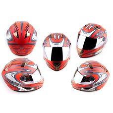 Купить Шлем-интеграл   (mod:В-500) (size:L, красный матовый, зеркальный визор, BLADE)   BEON в Интернет-Магазине LIMOTO