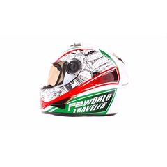 Шлем-интеграл   (mod:B-500) (size:M, бело-красно-зеленый)   BEON