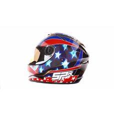 Купить Шлем-интеграл   (mod:B-500) (size:M, черно-красно-синий)   BEON в Интернет-Магазине LIMOTO