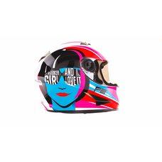 Купить Шлем-интеграл   (mod:B-500) (size:XL, бело-розово-голубой)   BEON в Интернет-Магазине LIMOTO