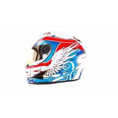 Шлем-интеграл   (mod:B-500) (size:XL, бело-красно-синий)   BEON