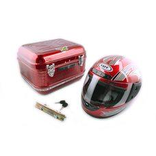 Купить Кофр   Delta   металл красный   (35*28*26) (+шлем)   EVO в Интернет-Магазине LIMOTO