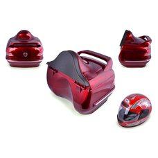 Кофр   Мерседес   (красный) (+шлем октрытый синий) Купить в Интернет-Магазине LIMOTO