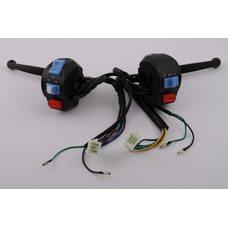 Купить Блоки кнопок руля (пара)   4T GY6 50   (барабан/барабан, крепление, рычаги) в Интернет-Магазине LIMOTO