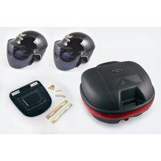 Купить Кофр пластмассовый   (mod.998А) (черный, +2 шлема-каски с визором)   LDR в Интернет-Магазине LIMOTO