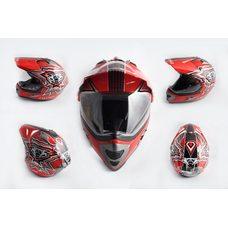 Купить Шлем кроссовый   (mod:MX433) (с визором, size:XL, красный)   LS-2 в Интернет-Магазине LIMOTO