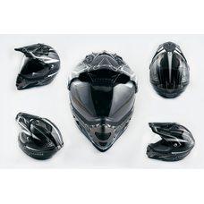 Купить Шлем кроссовый   (mod:MX433) (с визором, size:XXL, черно-серый с узором)   LS-2 в Интернет-Магазине LIMOTO