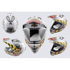 Купить Шлем кроссовый   (mod:MX433) (с визором, size:ХL, белый, JUSTICE)   LS-2 в Интернет-Магазине LIMOTO
