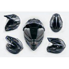 Купить Шлем кроссовый   (mod:MX433) (с визором, size:XL, черно-синий, MAGNUM)   LS-2 в Интернет-Магазине LIMOTO