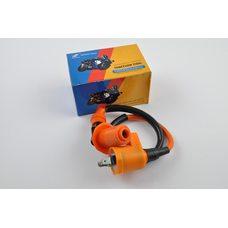 Купить Катушка зажигания (тюнинг)   4T GY6 50-150, Honda DIO   (оранжевая, +насвечник)   SENDFLY в Интернет-Магазине LIMOTO