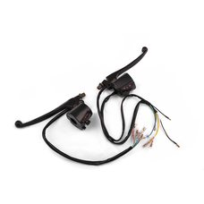 Купить Блоки кнопок руля (пара)   Suzuki AX100   (черные, рычаги, крепление)   XVP в Интернет-Магазине LIMOTO