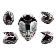 Купить Шлем кроссовый   (mod:MX433) (с визором, size:XL, черно-красный, MAGNUM)   LS-2 в Интернет-Магазине LIMOTO