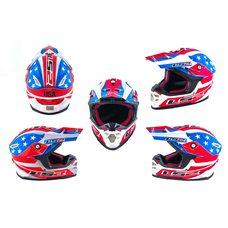 Купить Шлем кроссовый   (mod:MX456) (size:L, сине-белый, USA)   LS-2 в Интернет-Магазине LIMOTO