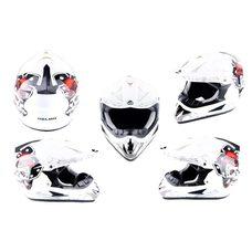 Шлем кроссовый   (mod:CR168) (size:L, белый, DICE)   HELMO Купить в Интернет-Магазине LIMOTO