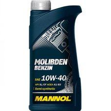 Купить Масло   автомобильное, 1л   (SAE 10W-40, полусинтетика, Molibden Benzin API SL/CF)   MANNOL в Интернет-Магазине LIMOTO