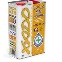Масло автомобильное 4л   (синтетика, 0W-20SN Atomic Oil, API SN/SN-RC)   (20267)   ХАДО