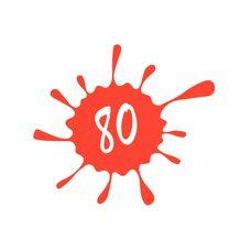 Купить Наклейка   декор   80   (24x25см, красная)   (#5627) в Интернет-Магазине LIMOTO