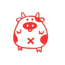 Купить Наклейка   декор   PIG   (красная)   (#HQ5) в Интернет-Магазине LIMOTO