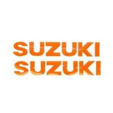 Купить Наклейка   буквы   SUZUKI   (19х5см, 2шт, оранжевый)   (#HCT10001) в Интернет-Магазине LIMOTO