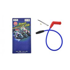 Купить Бронепровод 550mm   (синий)   (+соединитель, насвечник красный 45*(135*)   MZK в Интернет-Магазине LIMOTO