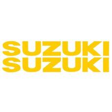 Купить Наклейка   буквы   SUZUKI   (19х5см, 2шт, желтые)   (#HCT10001) в Интернет-Магазине LIMOTO
