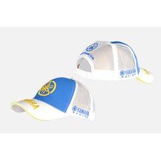 Купить Бейсболка   YMH   (бело-синяя, 100% хлопок) в Интернет-Магазине LIMOTO