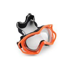 Купить Очки кроссовые   (mod:MJ-11, красные с прозрачным стеклом) в Интернет-Магазине LIMOTO