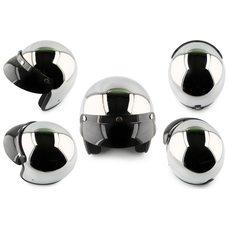 Купить Шлем открытый   (size:L, хром)   STAR в Интернет-Магазине LIMOTO