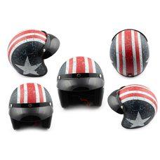 Купить Шлем открытый   (с козырьком, size:M, бело-синий)   STAR в Интернет-Магазине LIMOTO