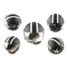 Купить Шлем открытый   (с очками и козырьком, size:XL, черный)   BEON в Интернет-Магазине LIMOTO
