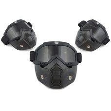 Купить Очки кроссовые   BEON   (mod:211, черные матовые, тонированное стекло) в Интернет-Магазине LIMOTO