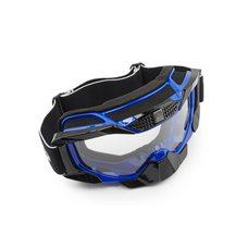 Очки кроссовые   (mod:MJ-1015, синие, прозрачное стекло)