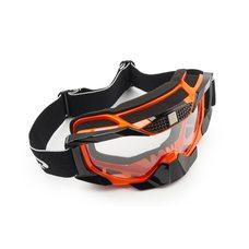 Очки кроссовые   (mod:MJ-1015, оранжевые, прозрачное стекло)