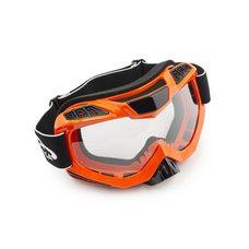 Купить Очки кроссовые   (mod:MJ-1016, оранжевые, прозрачное стекло) в Интернет-Магазине LIMOTO
