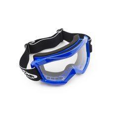 Купить Очки кроссовые   (mod:MJ-1018, синие, прозрачное стекло) в Интернет-Магазине LIMOTO