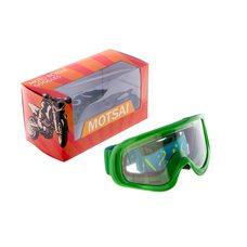 Купить Очки кроссовые   (зеленый с прозрачным стеклом) в Интернет-Магазине LIMOTO