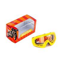 Купить Очки кроссовые   (бежевые, прозрачное стекло, красный ремешок) в Интернет-Магазине LIMOTO