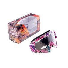 Купить Очки кроссовые   MOTSAI   (бело-лиловые, ремешок бело-лиловый, прозрачное стекло) в Интернет-Магазине LIMOTO