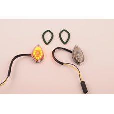 Купить Повороты диодные мини (пара)   стреловидные   (самоклеющиеся, прозрачные)   XING HONG в Интернет-Магазине LIMOTO