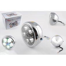 Купить Фара светодиодная круглая (крепеж 165mm, многоцветная подсветка, металл)   Feili в Интернет-Магазине LIMOTO