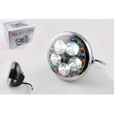 Купить Фара светодиодная круглая (крепеж 180mm, многоцветная подсветка, пластик)   Feili в Интернет-Магазине LIMOTO