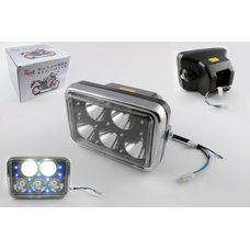 Купить Фара светодиодная прямоугольная (крепеж 165mm, голубая подсветка, пластик)   Feili в Интернет-Магазине LIMOTO