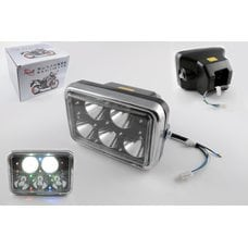 Купить Фара светодиодная прямоугольная (крепеж 165mm, многоцветная подсветка, пластик)   Feili в Интернет-Магазине LIMOTO