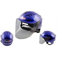 Купить Шлем открытый   (mod:100) (аэроформа, черный визор) (size:XL, синий)   LS2 в Интернет-Магазине LIMOTO