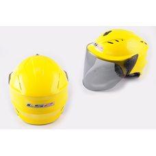 Купить Шлем открытый   (mod:100) (аэроформа, черный визор) (size:XL, желтый)   LS2 в Интернет-Магазине LIMOTO