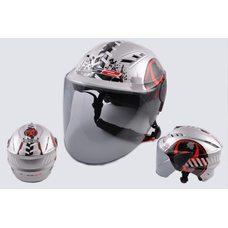 Купить Шлем открытый   (mod:100) (аэроформа, черный визор) (size:L, BIOHAZARD)   LS2 в Интернет-Магазине LIMOTO