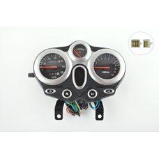 Купить Панель приборов (в сборе)   Zongshen, Lifan 125/150   (120км/ч, черно-серебрянная, круглая, тахометр)   (mod:MY-013) в Интернет-Магазине LIMOTO