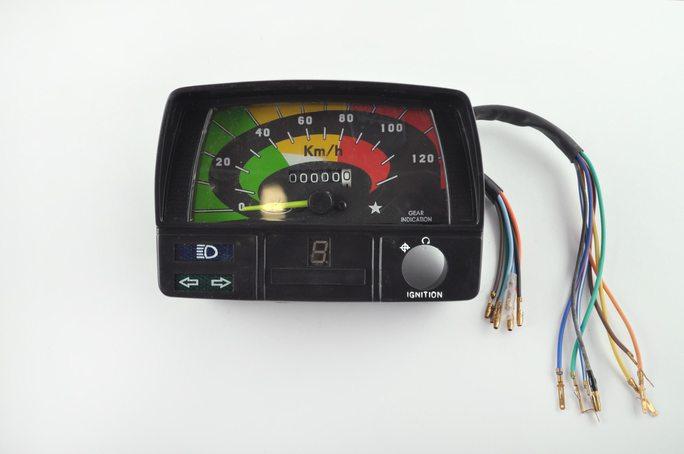 Купить Панель приборов (в сборе)   Delta   (120км/ч, черная, индикатор передач)   (#MY-006) в Интернет-Магазине LIMOTO
