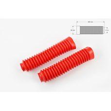 Купить Гофры передней вилки (пара)   универсальные   L-250mm, d-30mm, D-50mm   (красные)   KTO в Интернет-Магазине LIMOTO