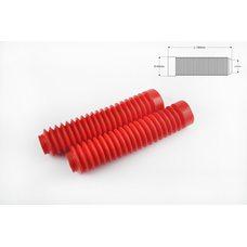 Купить Гофры передней вилки (пара)   универсальные   L-190mm, d-30mm, D-45mm   (красные)   MZK в Интернет-Магазине LIMOTO